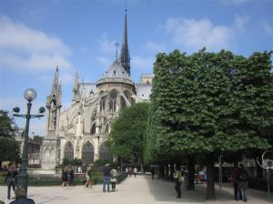 Gothic architecture of Notre Dame Cathedral