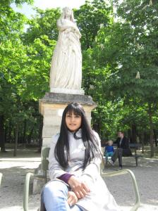 Relaxing at Luxembourg Gardens