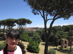 On Palatine Hill, Colosseum in the background