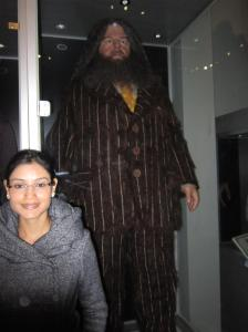 Me and Hagrid, the half giant